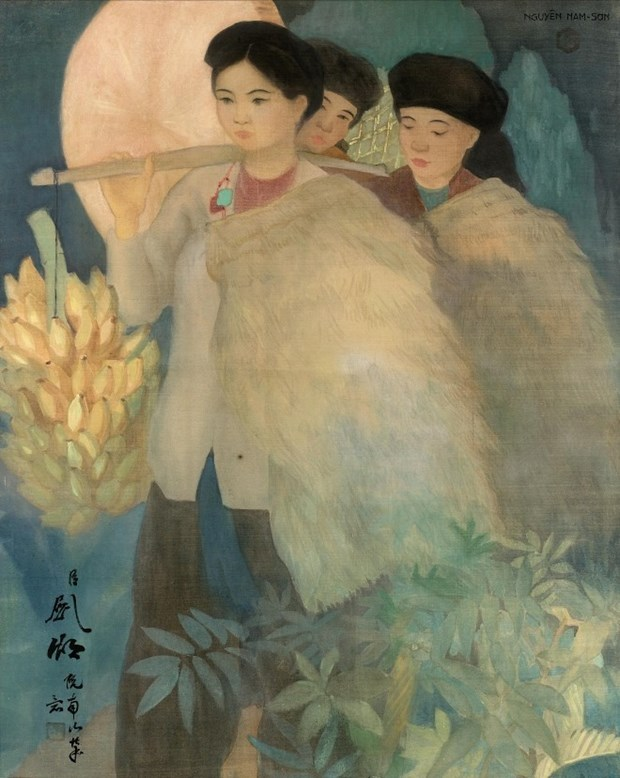 Vietnamese painter's work auctioned at record price in Paris hinh anh 1