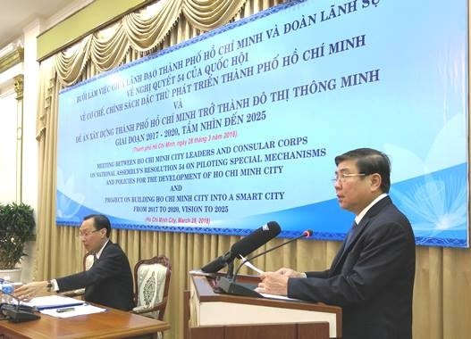 Consuls general updated on special policies for HCM City's development hinh anh 1