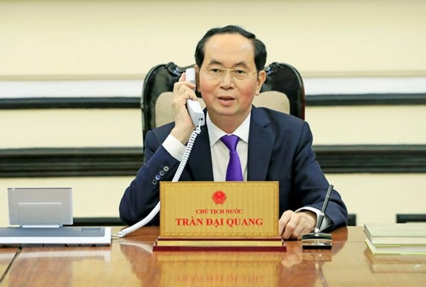 President Tran Dai Quang holds phone talks with Russian President hinh anh 1