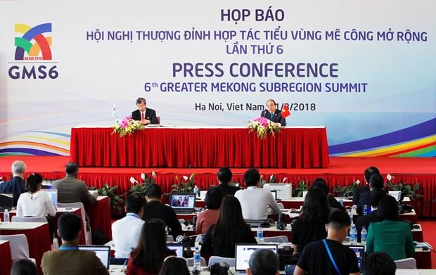 Sixth Greater Mekong Subregion Summit a success hinh anh 1
