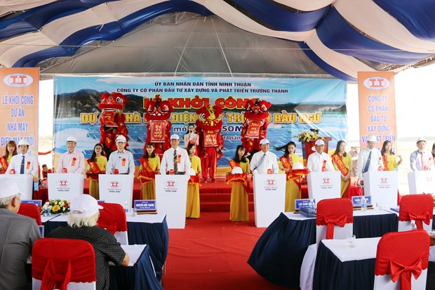 Work starts on second solar power plant in Ninh Thuan hinh anh 1
