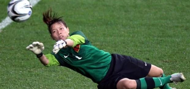 AFC website highlights female Vietnamese goalkeeper Dang Thi Kieu Trinh hinh anh 1