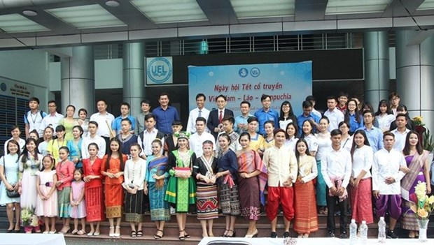 Traditional new year festivals of Laos, Cambodia marked in HCM City hinh anh 1