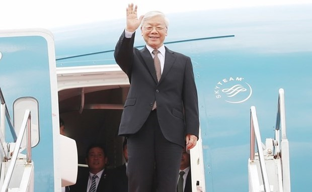 Party chief concludes France, Cuba visits hinh anh 1