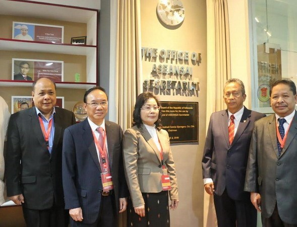ASEANSAI secretariat office inaugurated in Indonesia hinh anh 1