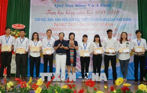 Vu A Dinh Scholarship Fund strives to give bigger aid to needy students hinh anh 1