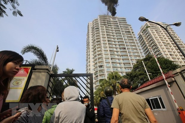 Most Hanoi apartments don't have fire insurance hinh anh 1