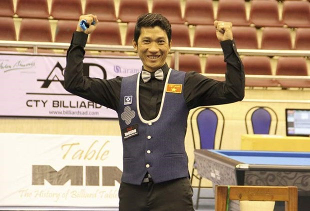 Ngo Dinh Nai retains championship at Asian carom billiards event hinh anh 1