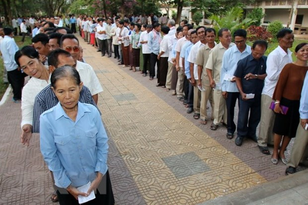 Cambodia calls on locals not to boycott general election hinh anh 1