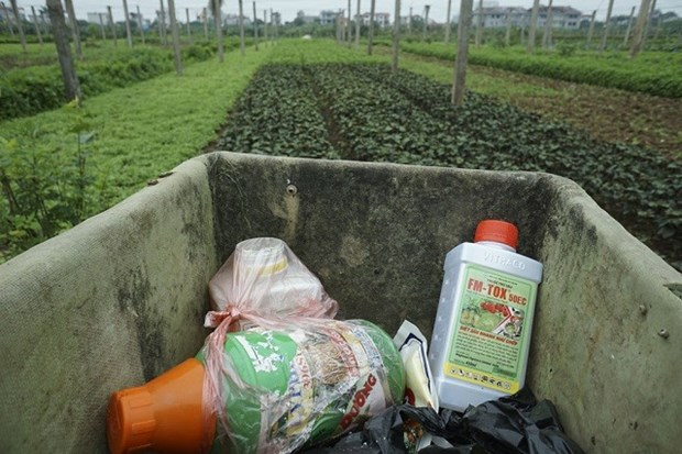 Hanoi tackles plant protection packaging waste hinh anh 1