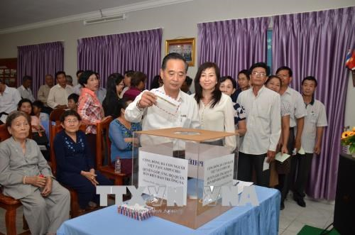 Vietnamese in Cambodia support Truong Sa soldiers, residents hinh anh 1