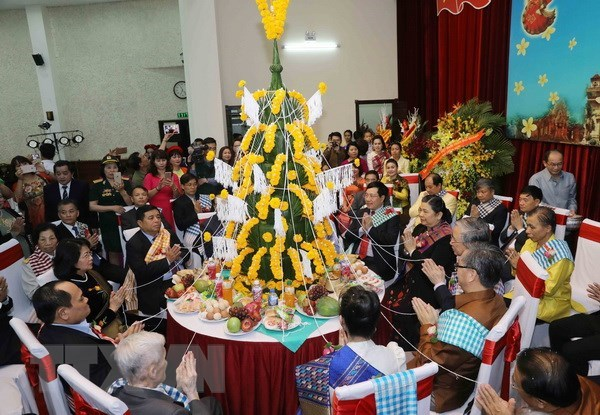 Lao traditional New Year celebrated in Hanoi hinh anh 1