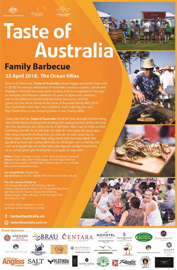 Taste of Australia family BBQ to be held in Da Nang hinh anh 1