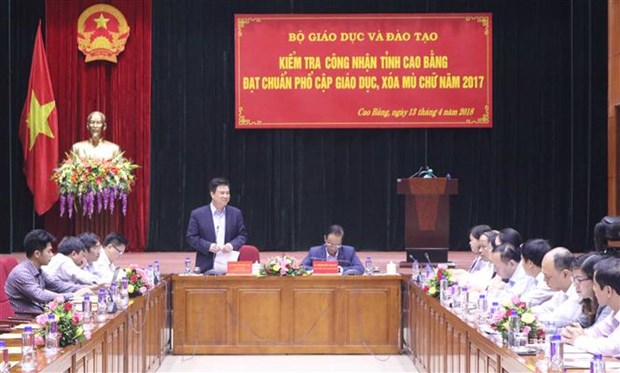 Cao Bang meets standards on education universalisation hinh anh 1