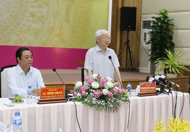 Party chief inspects Dong Thap's socio-economic development hinh anh 1