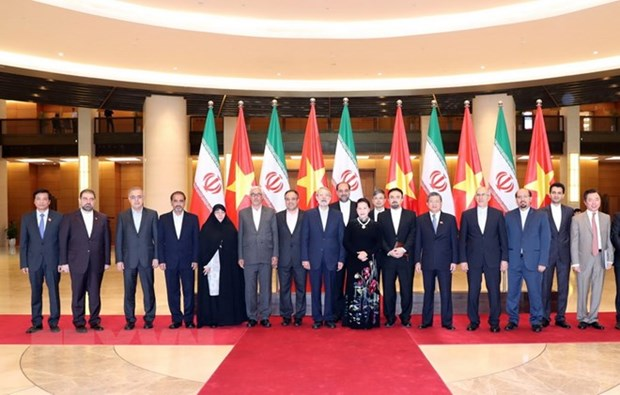 NA Chairwoman welcomes Iranian Parliament Speaker's visit hinh anh 1