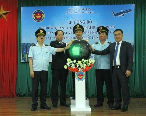 Automated customs system launched at Noi Bai airport hinh anh 1