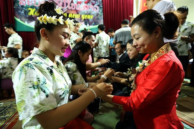 Lao students in Dien Bien celebrate traditional festival hinh anh 1