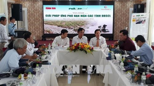 Solutions sought to drought, saline intrusion in Mekong Delta hinh anh 1