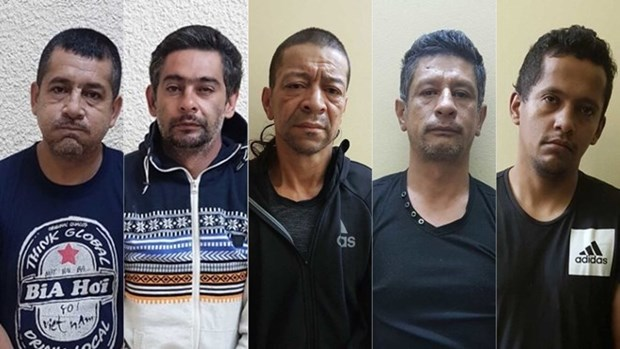 Five Colombian men imprisoned for property theft hinh anh 1