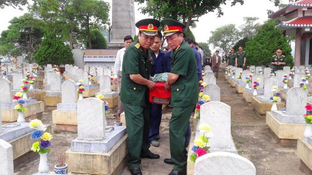 Quang Tri: Memorial service held for remains of soldiers hinh anh 1