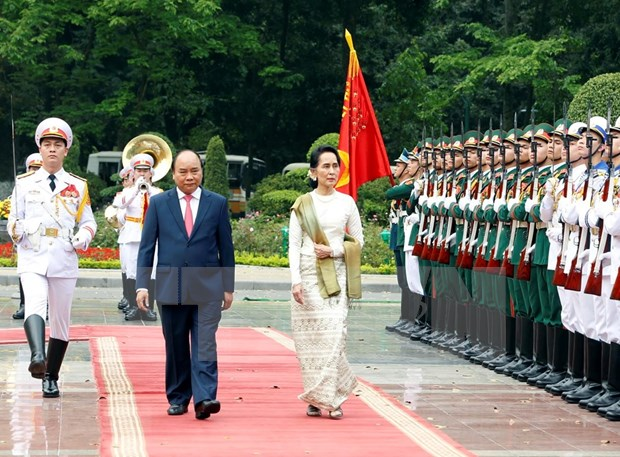 Vietnam, Myanmar issue joint statement hinh anh 1