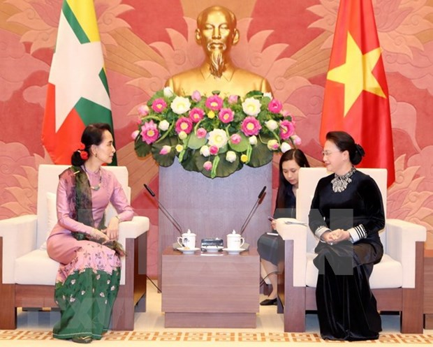 National Assembly Chairwoman hosts Myanmar State Counsellor hinh anh 1