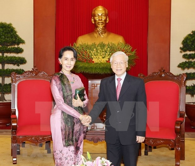 Party chief: Vietnam wants to expand cooperative ties with Myanmar hinh anh 1