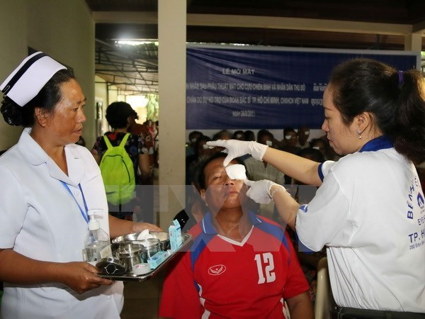 Vietnamese, Lao provinces enhance medical cooperation hinh anh 1