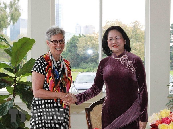 Vice President meets leaders of Victoria state hinh anh 1
