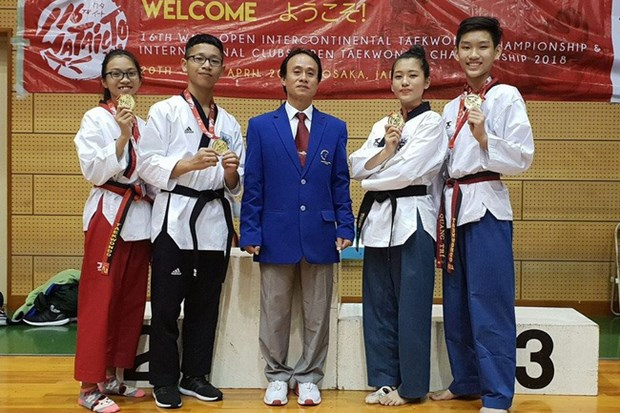 Taekwondo artists take more golds from int'l club champs hinh anh 1