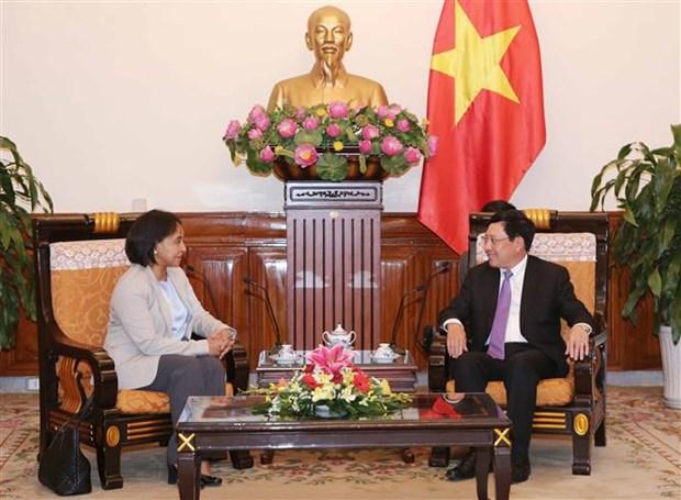 Deputy PM Pham Binh Minh greets Moroccan official hinh anh 1