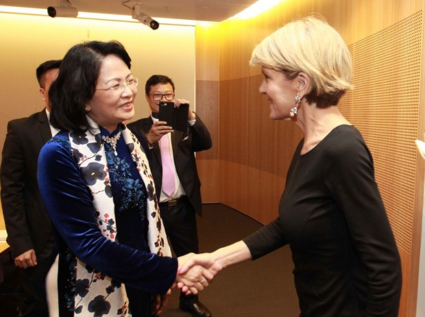 Vice President receives Australian foreign minister in Sydney hinh anh 1