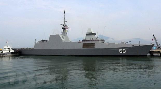 Singapore Navy's vessel visits Da Nang hinh anh 1