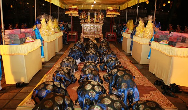 Hue festival: Heaven-and-Earth-worshipping ritual re-enacted hinh anh 3