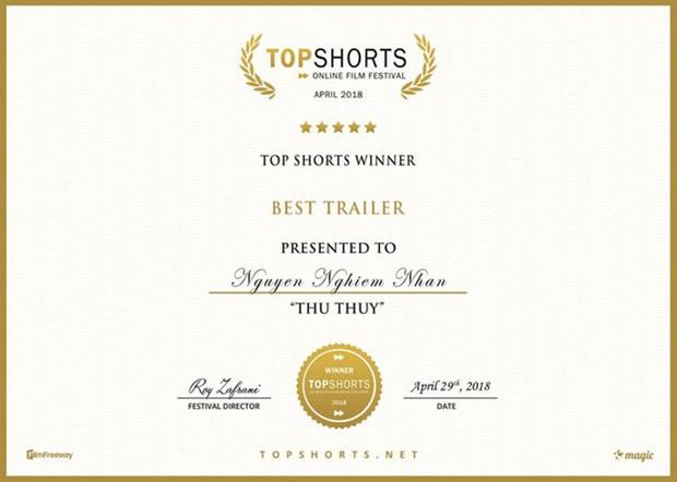 Vietnamese wins Top Shorts film awards hinh anh 1