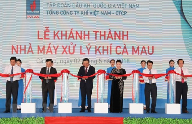 NA leader witnesses gas processing plant inauguration in Ca Mau hinh anh 1