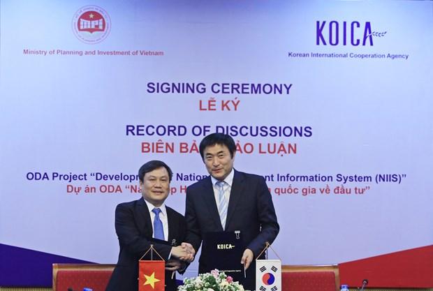 RoK helps Vietnam develop investment information system hinh anh 1