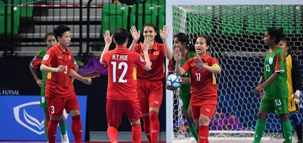Vietnam beat Bangladesh at AFC women's futsal event hinh anh 1