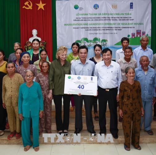UN Green Climate Fund supports Quang Ngai residents hinh anh 1