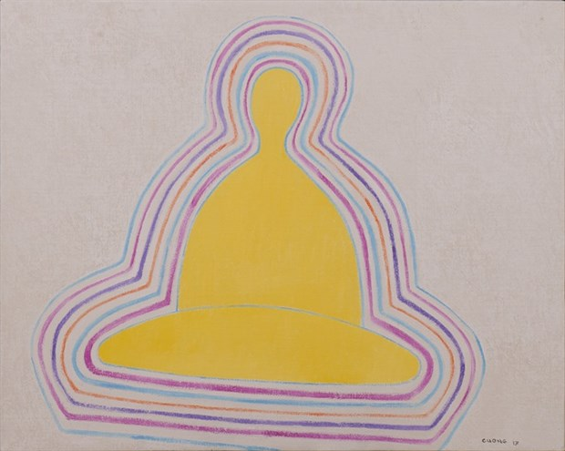 Minimalist artist exhibits Zen-influenced paintings hinh anh 1