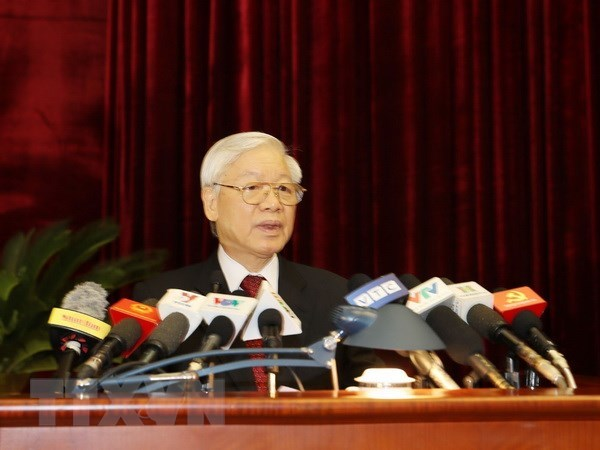 Party Central Committee's 7th plenary session opens hinh anh 1