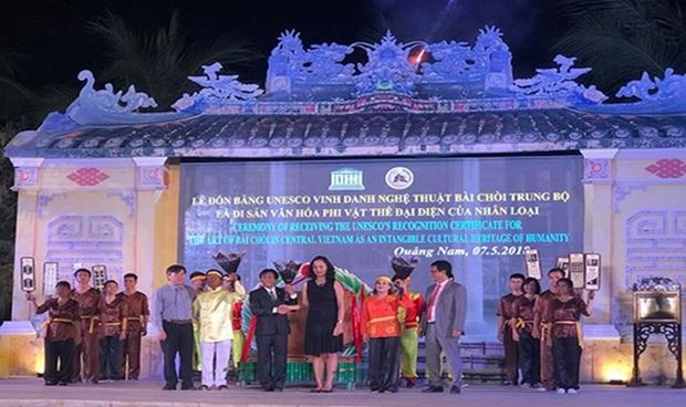 Quang Nam welcomes UNESCO status for Bai Choi singing hinh anh 1