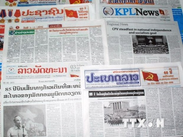 Lao news agency highlights VNA support in training reporters, editors hinh anh 1