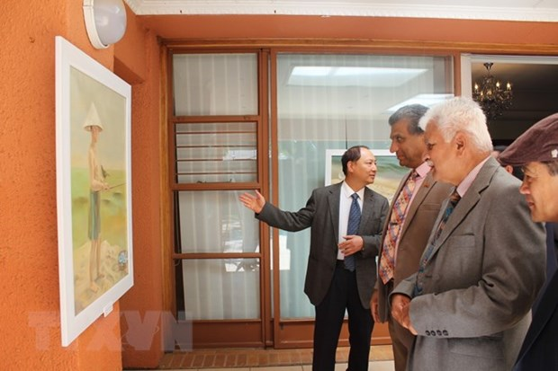 Painting exhibition in South Africa draws large crowds hinh anh 1