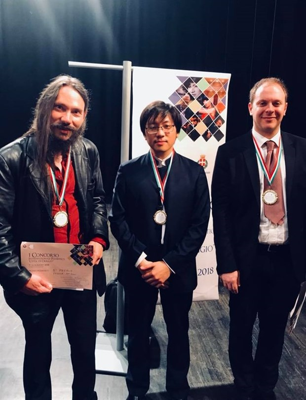 Vietnamese pianist wins prize in Italian music contest hinh anh 1