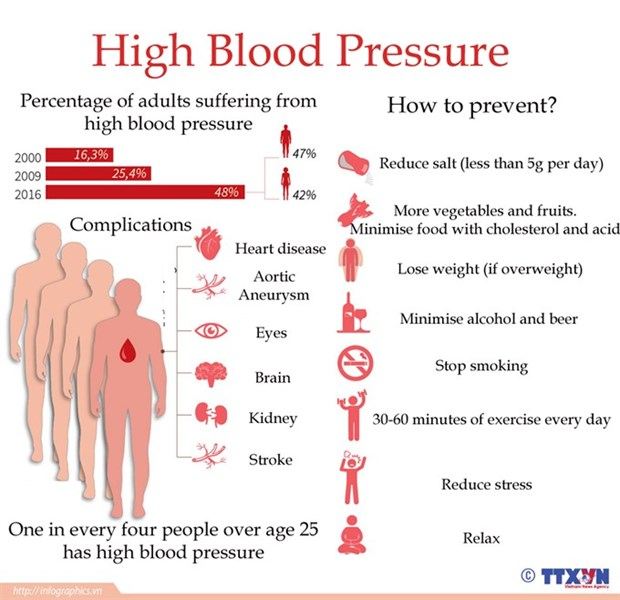 Hypertension on-the-rise poses serious health risks hinh anh 1