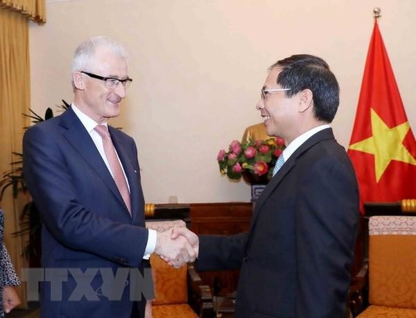 Minister-President of Belgium's Flanders region welcomed in Hanoi hinh anh 1