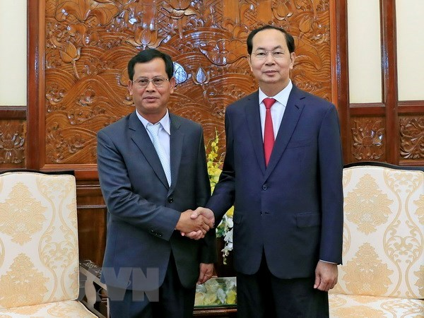 President Tran Dai Quang receives Lao Deputy Minister of Public Security hinh anh 1