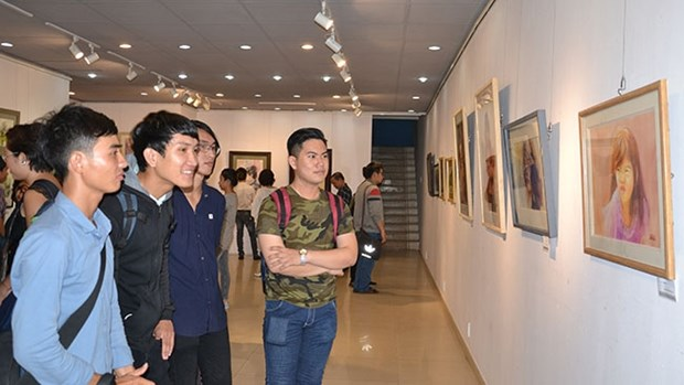 International watercolour exhibition opens in HCM City hinh anh 1